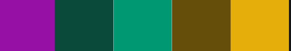 Kuler Emerald Palette Triad