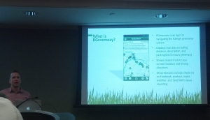 Eric Majewicz demos the RGreenway app.