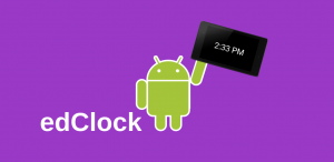 Google Play Store Feature Graphic for edClock for Android