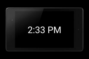 Screen shot of edClock app